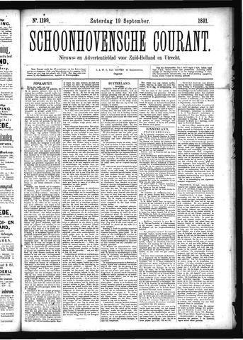 Schoonhovensche Courant 1891-09-19
