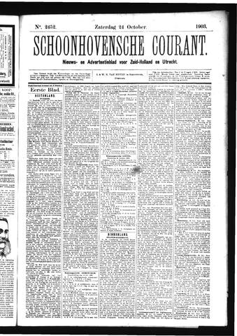 Schoonhovensche Courant 1903-10-24