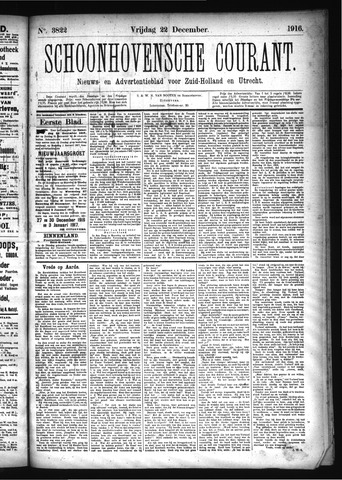 Schoonhovensche Courant 1916-12-22