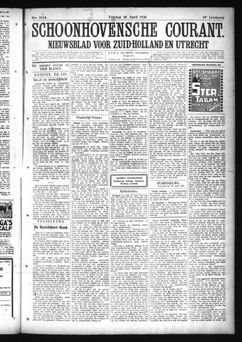 Schoonhovensche Courant 1926-04-30