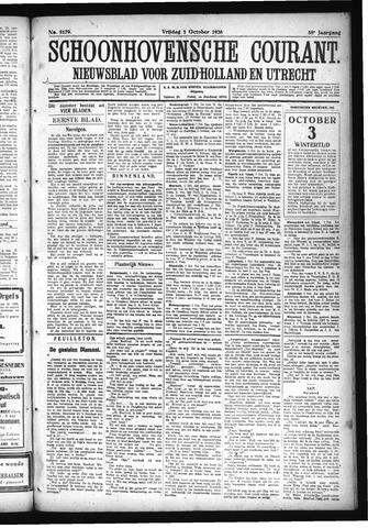 Schoonhovensche Courant 1926-10-01