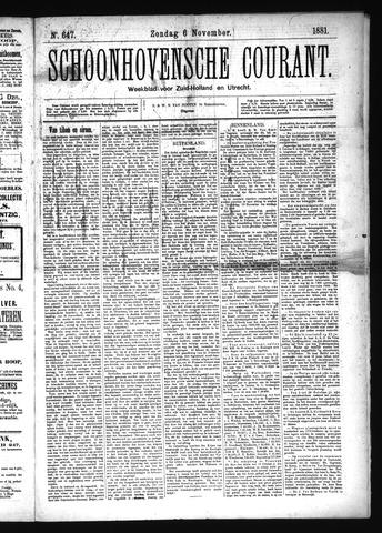 Schoonhovensche Courant 1881-11-06