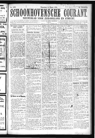 Schoonhovensche Courant 1924-03-24