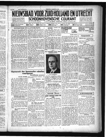 Schoonhovensche Courant 1936-08-12