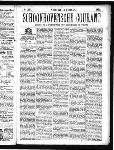 Schoonhovensche Courant 1894-02-14