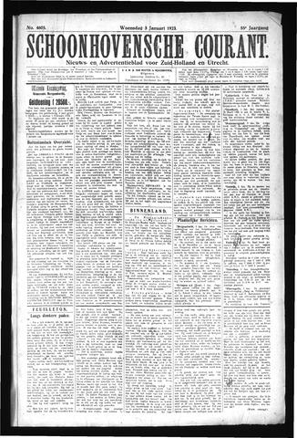 Schoonhovensche Courant 1923-01-03