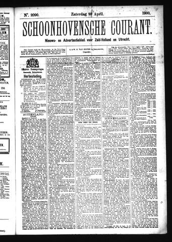 Schoonhovensche Courant 1900-04-28