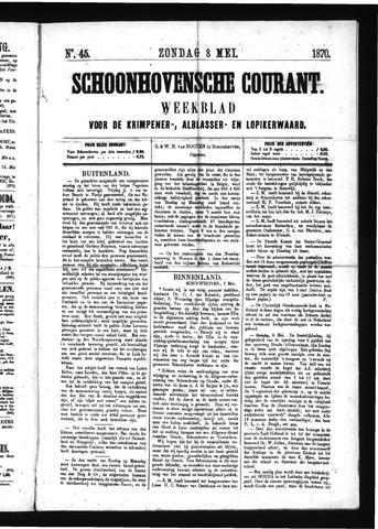 Schoonhovensche Courant 1870-05-08