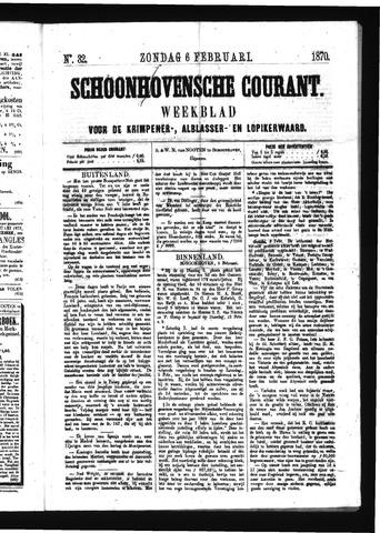 Schoonhovensche Courant 1870-02-06