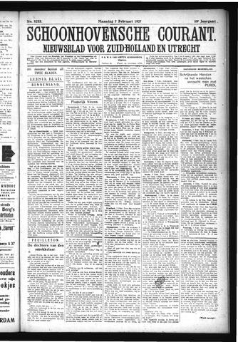 Schoonhovensche Courant 1927-02-07