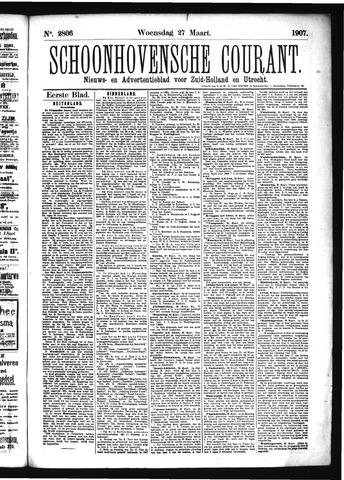 Schoonhovensche Courant 1907-03-27