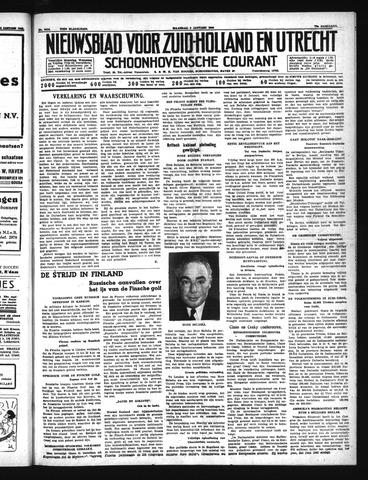 Schoonhovensche Courant 1940-01-08