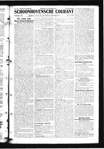 Schoonhovensche Courant 1945-01-30