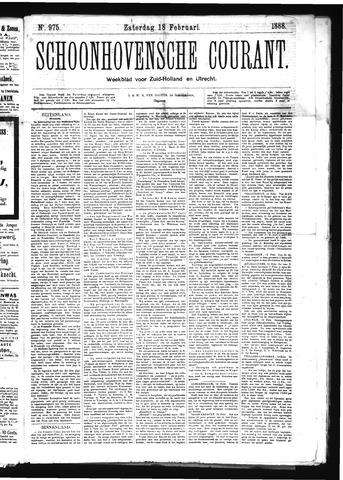 Schoonhovensche Courant 1888-02-18