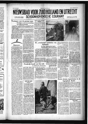 Schoonhovensche Courant 1958-01-22