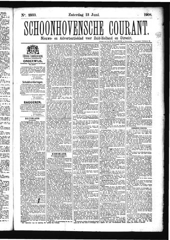 Schoonhovensche Courant 1908-06-13