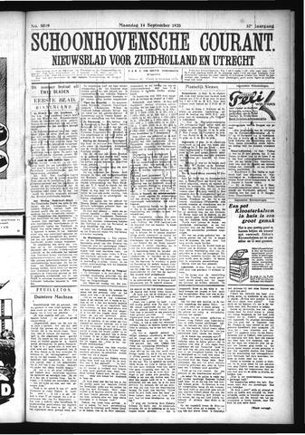 Schoonhovensche Courant 1925-09-14