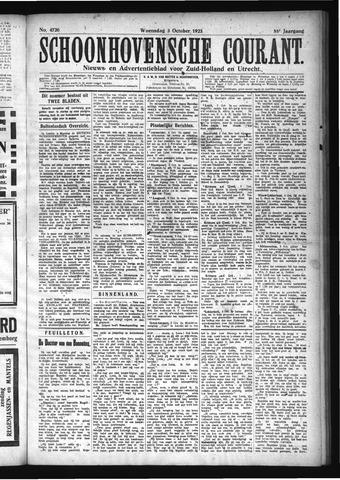 Schoonhovensche Courant 1923-10-03