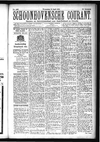 Schoonhovensche Courant 1922-04-19
