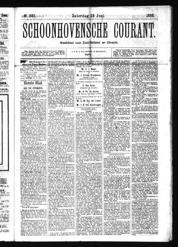 Schoonhovensche Courant 1886-06-12