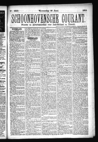 Schoonhovensche Courant 1912-06-26