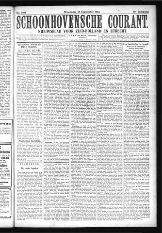 Schoonhovensche Courant 1924-09-10