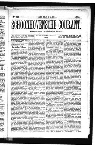 Schoonhovensche Courant 1881-04-03