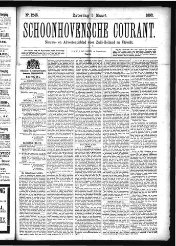Schoonhovensche Courant 1892-03-05