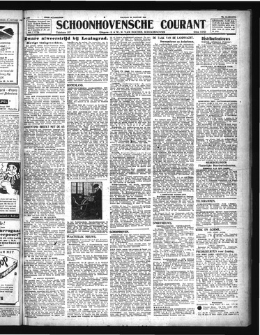 Schoonhovensche Courant 1944-01-28