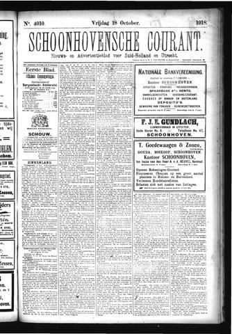 Schoonhovensche Courant 1918-10-18