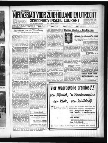 Schoonhovensche Courant 1937-09-15