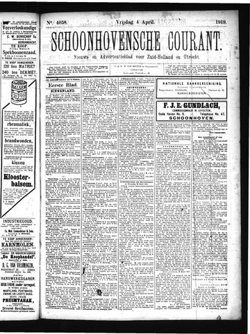 Schoonhovensche Courant 1919-04-04