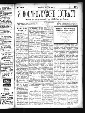 Schoonhovensche Courant 1917-11-30