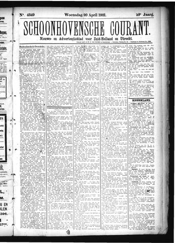 Schoonhovensche Courant 1921-04-20