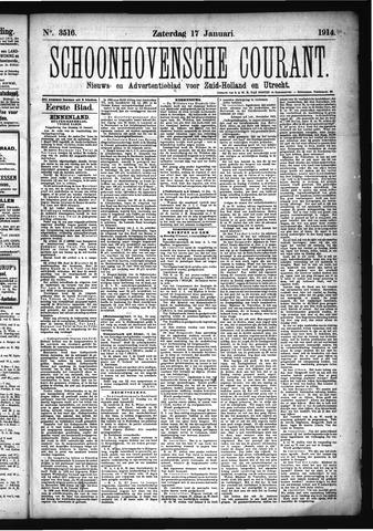 Schoonhovensche Courant 1914-01-17