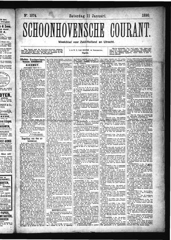 Schoonhovensche Courant 1890-01-11