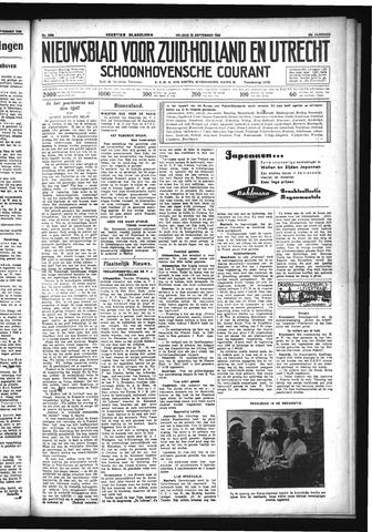 Schoonhovensche Courant 1933-09-22