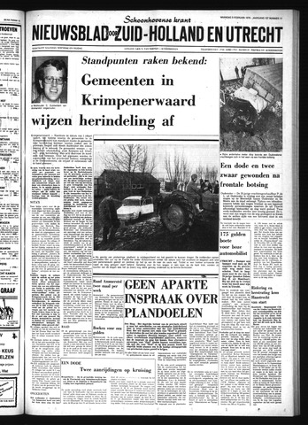 Schoonhovensche Courant 1976-02-09