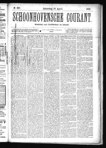 Schoonhovensche Courant 1885-04-18