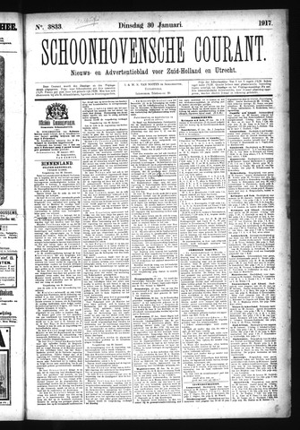 Schoonhovensche Courant 1917-01-30