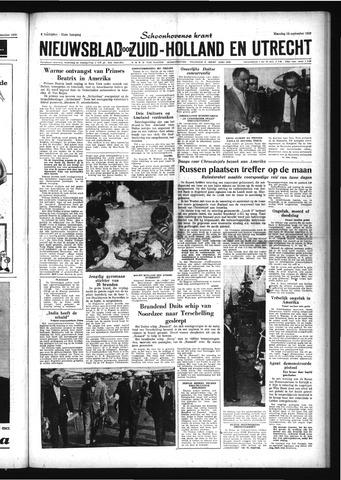 Schoonhovensche Courant 1959-09-14