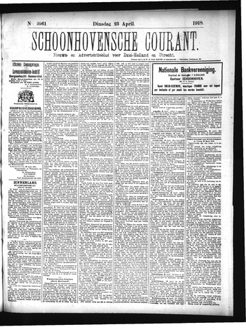 Schoonhovensche Courant 1918-04-23