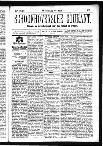 Schoonhovensche Courant 1903-07-22