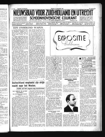 Schoonhovensche Courant 1939-09-22