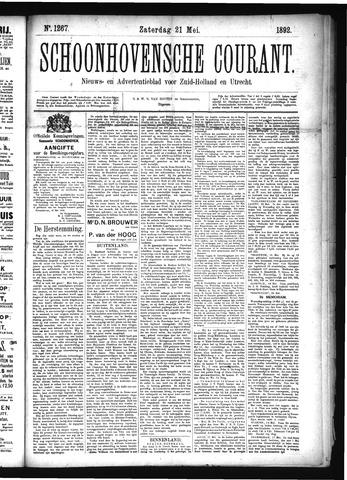 Schoonhovensche Courant 1892-05-21