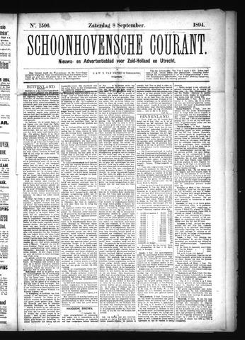 Schoonhovensche Courant 1894-09-08