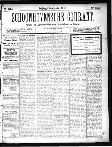 Schoonhovensche Courant 1921-09-09