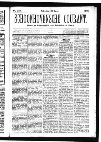 Schoonhovensche Courant 1906-06-30