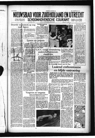Schoonhovensche Courant 1955-10-19