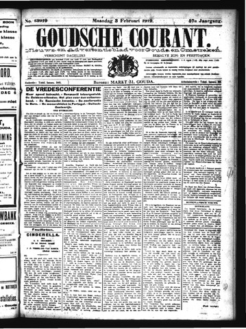 Goudsche Courant 1919-02-03